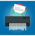 delete remove spam email trash message paper vector image