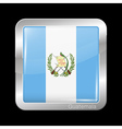 Flag of Guatemala Metal Icon Square Shape vector image