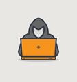 Hacker line icon vector image