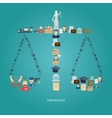 Justice Concept Flat vector image