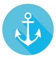 Marine Anchor Circle Icon vector image