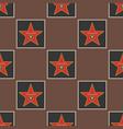 shiny stars style seamless pattern pentagonal vector image