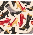 Shoes and boots seamless vector image