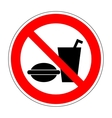 Sign no eat and drink 1504 vector image