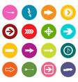 Arrow icons many colors set vector image
