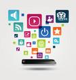 Internet application concept background vector image