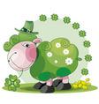 St Patrick's sheep vector image