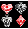 playing card icons vector image vector image