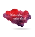 Purple watercolor cloud vector image