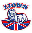 british lions team vector image vector image