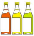 bottles of drinks vector image