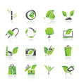 Environment and Conservation icons vector image