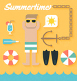 Flat Icons Set of Summer Holiday vector image