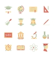 Flat Internet education icons vector image