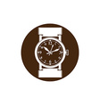 Graphic pocket watch Wristwatch with dial and an vector image