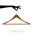 hand hold hanger vector image