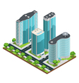 Isometric Modern City Composition vector image