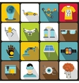 New technologies icons set flat style vector image