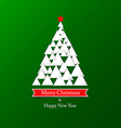 Paper christmas card vector image