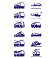 Public transportation icon set vector image