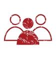 Red grunge leader logo vector image