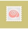 Shell stamp vector image