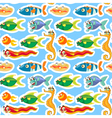 Various sea animals vector image