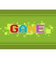 Pixel computer color game text screen vector image