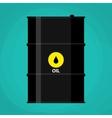 black metal oil barrel with logo icon vector image