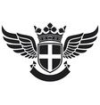 wings -coat of arms vector image