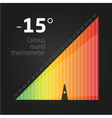 Infographics temperature chart vector image