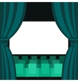 Abstract Cinema Flat Background vector image