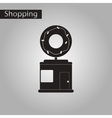 black and white style icon Donut shop vector image