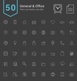 General and Office Thin Icon Set vector image