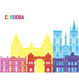 cordoba ar skyline pop vector image