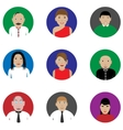 People icon set vector image