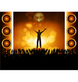 star on stage with crowd vector image