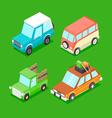 Cartoon Isometric Cars vector image