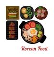 Food Korean food vector image