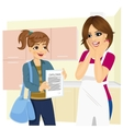 daughter showing school diploma to happy mother vector image