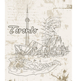 toronto doodles vector image vector image