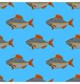 Fresh Fish Seamless Pattern vector image