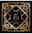 abstract copper art deco style background vector image