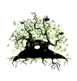 Big old tree with roots for your design vector image