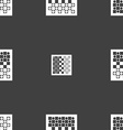 checkers board icon sign Seamless pattern on a vector image