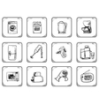 Household equipment icons vector image