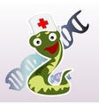 Little doctor snake on a white background vector image