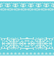 ornament blue vintage background vector image