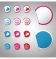 Set of trendy paper labels stickers for websites vector image