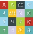People outline icons with dark shadow on color vector image